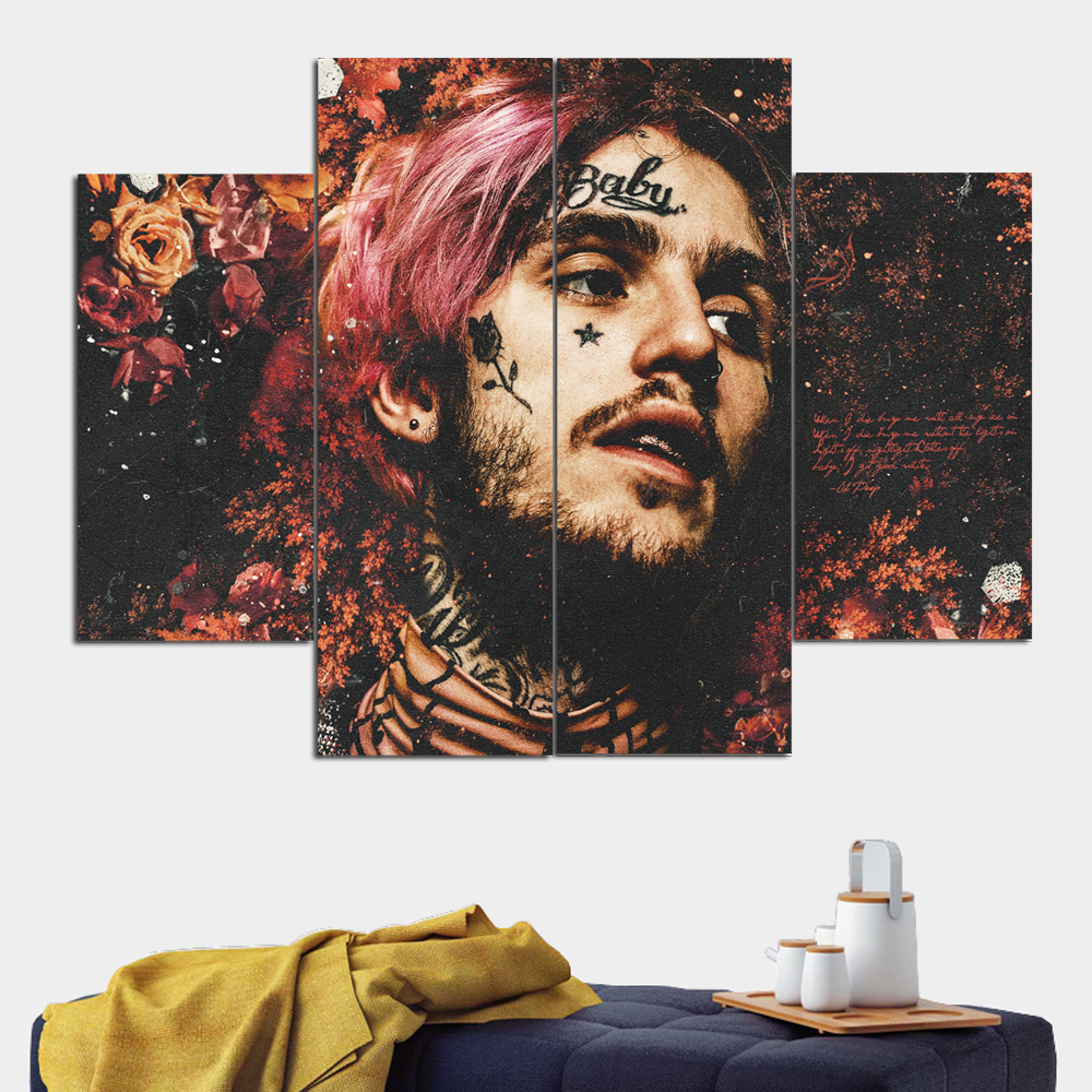 Lil Peep Canvas Poster Painting Large Wall Art Photo Face Print Camera Instant Giclee Tableau