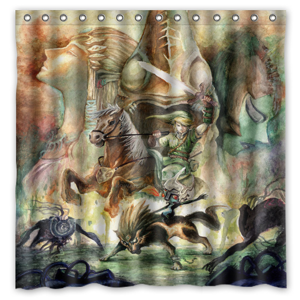 180x180cm Legend Of Zelda Bathroom Waterproof Polyester Shower Curtain Mouldproof Fabric Bath Accessory In Curtains From Home