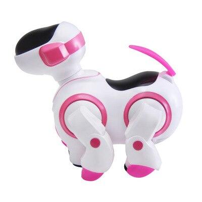 Новая электрическая авто-ловушка для запуска Танцы робот собака электронный питомец детские развивающие игрушки Рождественский подарок - Цвет: Розовый