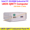 LBOX-QM77 Intel I73610QM 2.3GHz 2GB RAM(4xUSB Ports,6xRS232) Industrial Panel Computer low power high performance(LBOX-QM77)