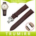 Butterfly venda de reloj de cuero genuino correa de hebilla de liberación rápida para maurice lacroix obra maestra de pontos de muñeca de la correa 18mm 20mm 22mm