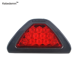 Kebedemm Professional 12 Car LED triangular Rear Laser Tail Braking Stop headlights Auto Fog led Lamp Light For Any car