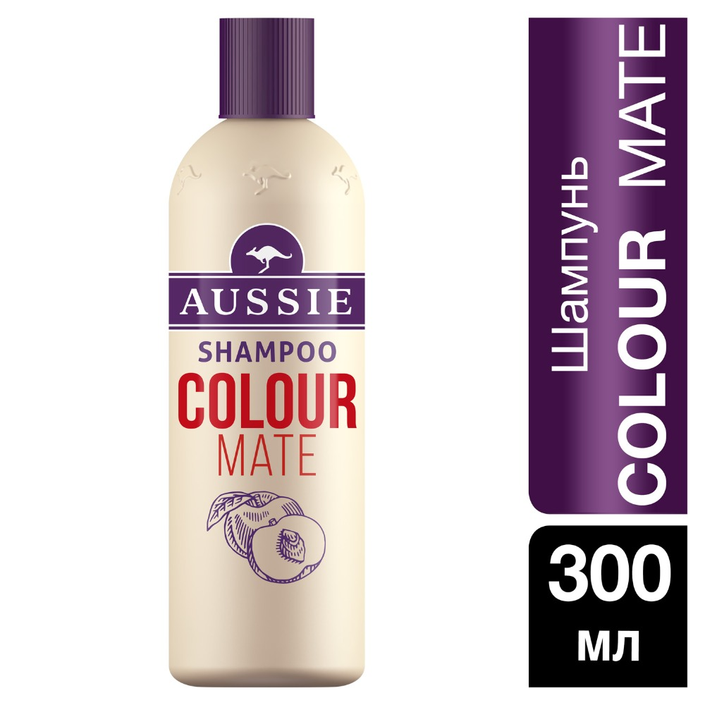 AUSSIE Color Mate Shampoo for colored hair 300ml punk style titanium steel colored ring for women