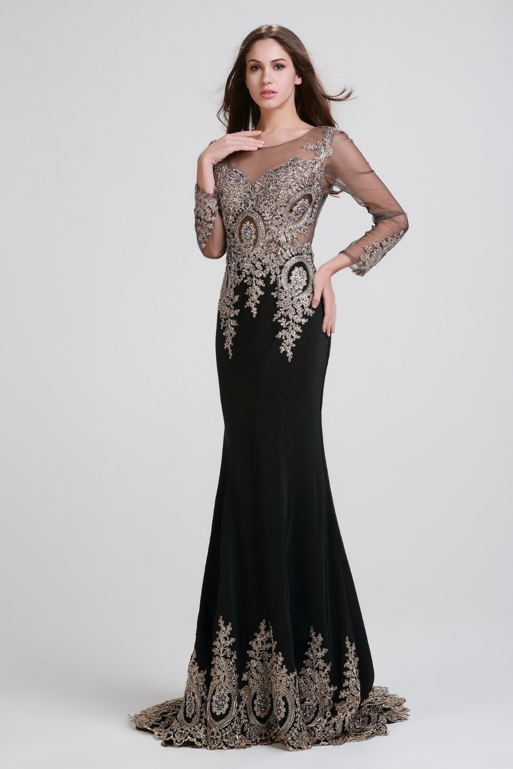 Compare Prices on Black Long Formal Gown- Online Shopping/Buy Low ...
