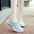 Summer Style Sporting Walking Women Shoes Air Cushion Breathable Casual Women Shoes Slip on Creepers Shoes for Women Size 9