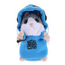 Electronic Talking Hamster Mouse Pet Plush Toy Sound Repeat Recording Hamster Kids Educational Toy for Children Gift