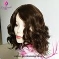 Индивидуальные коричневый Необработанные Бразильские волосы Кошерные парики, еврейский парик с Коричневый моно, Sheitels