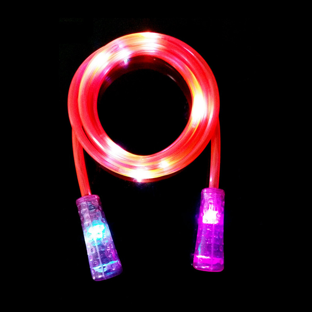 2.5M Kids Toys Fitness Bodybuilding Exercise Colorful Changing LED Flashing Light Up Glow Skipping Jump Rope skipping jump rope цена 2017