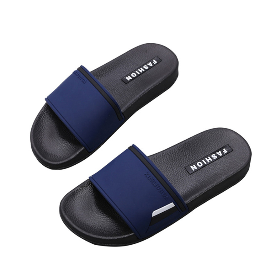 New Style Men Lattice Flat Bath Slippers Fashion Summer Sandals Indoor & Outdoor Slippers Breathable Soft Casual Shoes zapato S