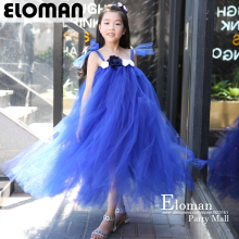 Eloman DIY tutu dress for girl birthday party perfect flower girls tutu dresses for wedding event 2018 royal blue flower dress маршрутизатор d link dsr 500