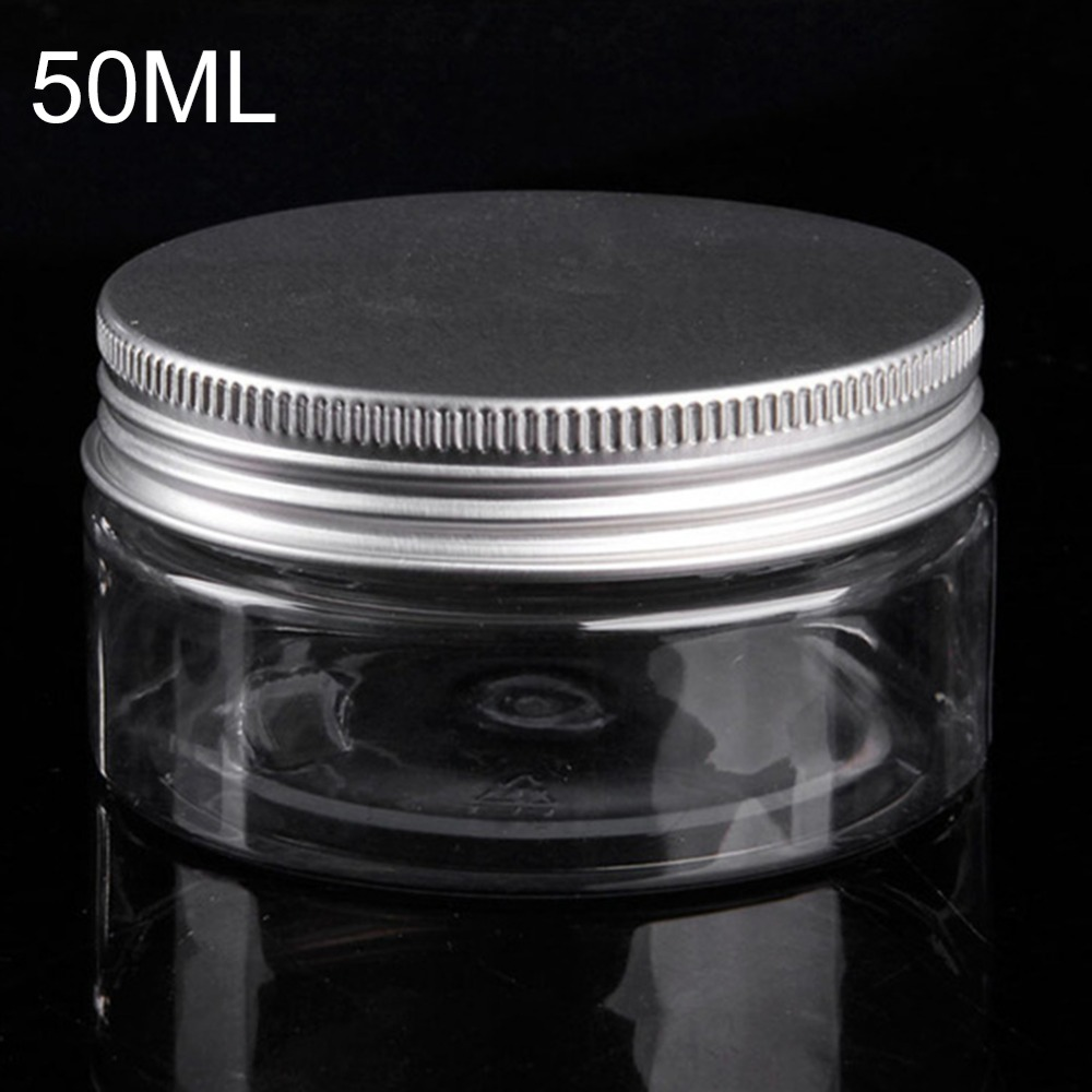50ml Plastic Jar Travel Bottle Empty Cosmetic Containers Packaging Clear Plastic Tubes With Caps Aluminium Tins Cosmetic Jar