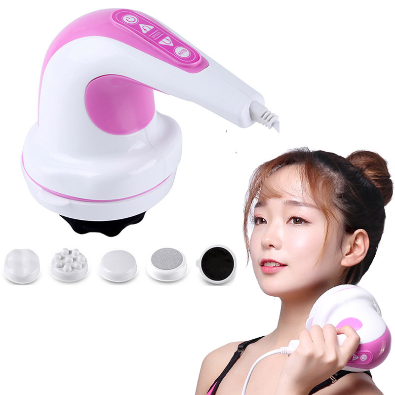 Body massager electric neck leg back foot waist vibrator slimming Massager for back Relax Spin Tone health care massage Fat loss pop relax electric vibrator jade massager light heating therapy natural jade stone body relax handheld massage device massager