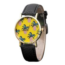 2017 Dignity Style Watchs Pineapples Sample PU Leather-based Band Analog Quartz Vogue Watches Dec 6
