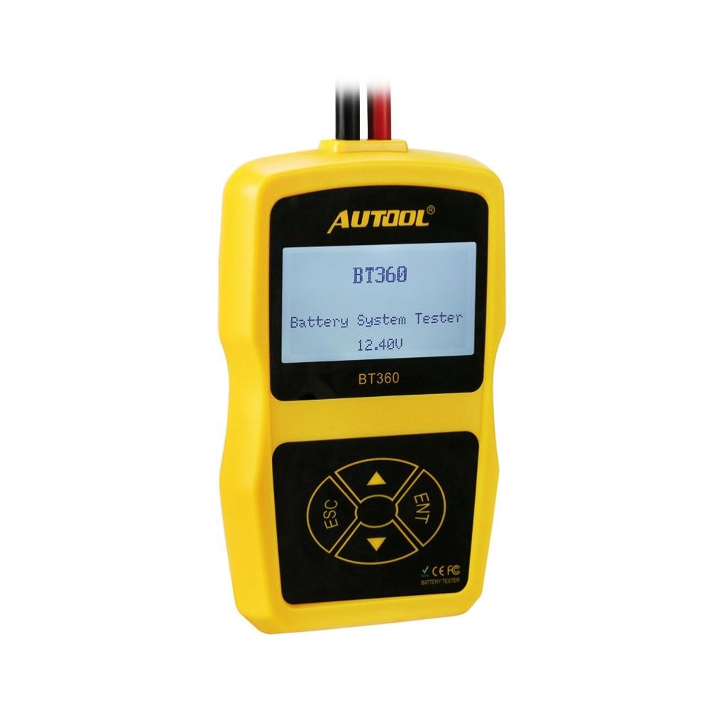 Image 5 - Оригинальный Autool BT360 авто Батарея тесты er 12 В в автомобильный батарея анализатор 2000CCA 220AH Multi language BAD Cell тесты автомобиля инструменты-in Тестеры аккумуляторов from Автомобили и мотоциклы