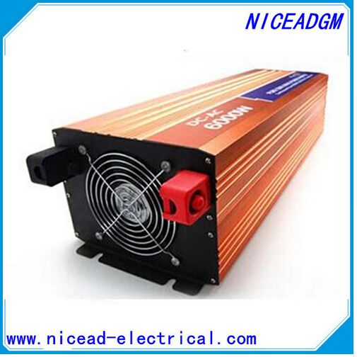 цена на With charge DC24V to AC220V CE RoHs power inverter 6000W pure sine wave power inverters 6KV solar power inverter, car inverter