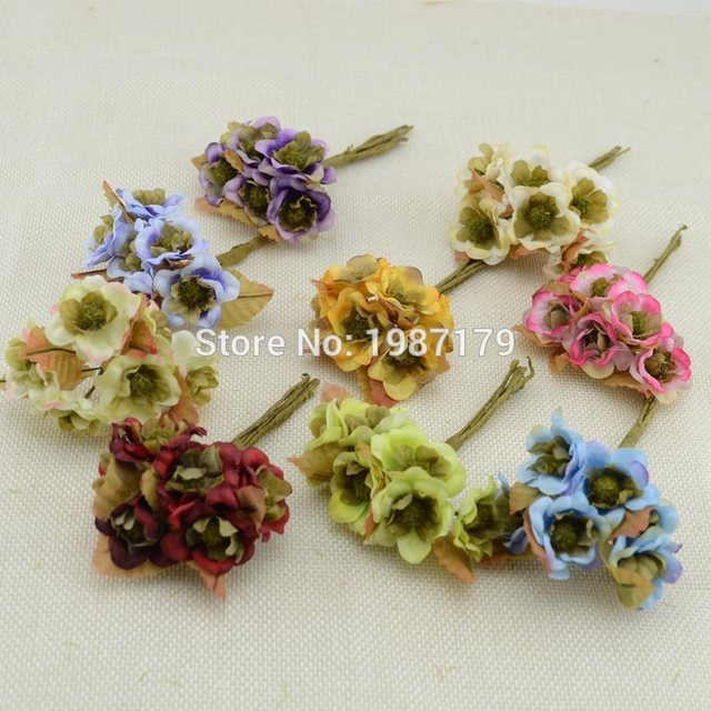 2016 6pcslot artificial flowers small flowers hair accessories 2016 6pcslot artificial flowers small flowers hair accessories bridal headdress wrist flower mightylinksfo