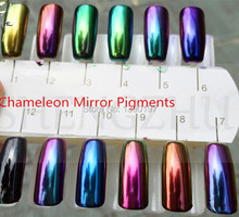 Chinese supplier mirror effect  chameleon pigment color changing powder 5grams  for nail polish, paints