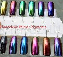 Fornecedor chinês espelho efeito camaleão mudando a cor do pigmento em pó 5 gramas para unha polonês, tintas