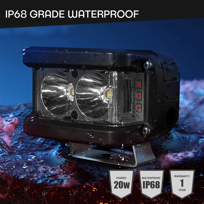 Image 5 - Work Light 20W Led Bar Side Flash Strobe Driving Fog Light for Offroad Truck Tractor SUV ATV Boat 4x4 Accessories rampe led Beam-in Light Bar/Work Light from Automobiles & Motorcycles