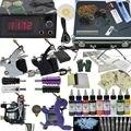 OPHIR Profesional 4 Kits de Tatuaje Máquina Motor Armas Set 9 Color de la Tinta Del Tatuaje, pigmento con Caja De Aluminio # TA007