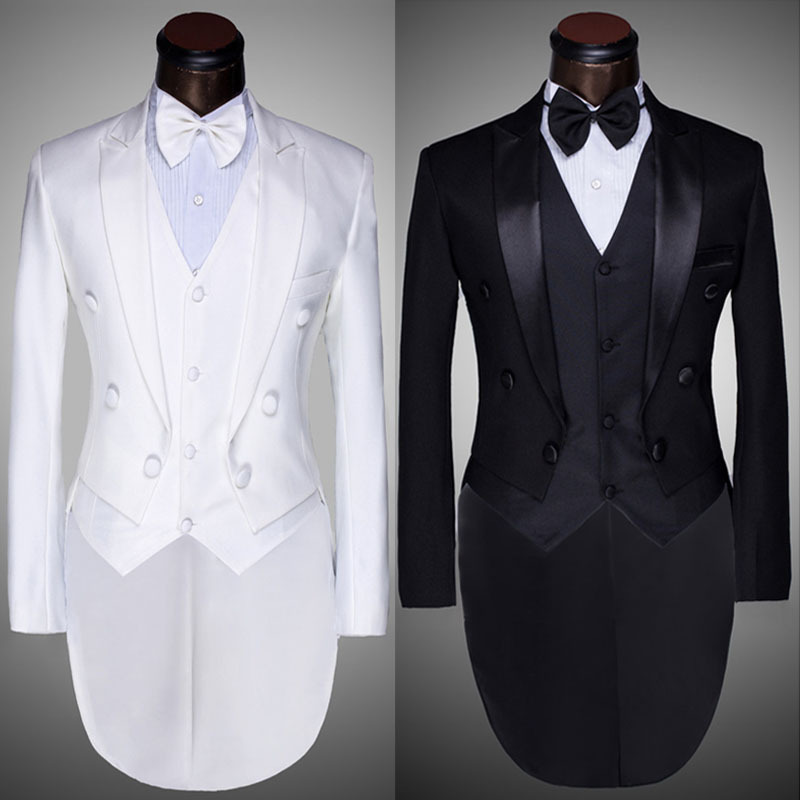 Stunning White And Black Prom Suit Gallery - Wedding Dress Ideas ...