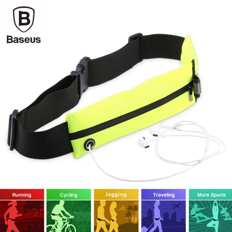 imágenes para Baseus deporte cinturón de bolsillo para htc 10 oneplus 3 para samsung galaxy s7 edge correr bolsa de cintura bolsa de viaje impermeable protección case
