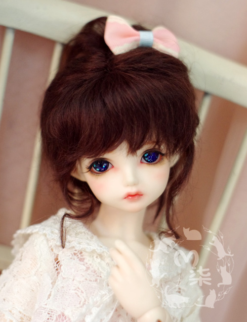 Hot! 1/3 1/4 1/6 1/8 1/12 SD BJD Doll Wig Retro disc  Wigs  high temperature Hair For Dolls 1h181 1