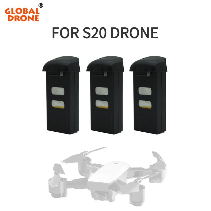 SMRC S20 Original Battery For S20 GPS Drone Lipo Battery RC Quadcopter Spare Parts 3.7V 1800mAh7.4V 900mAh
