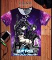 Nueva Venta Caliente Trajes de Anime Japonés Negro Rock Shooter Camiseta BRS Cosplay T-shirt