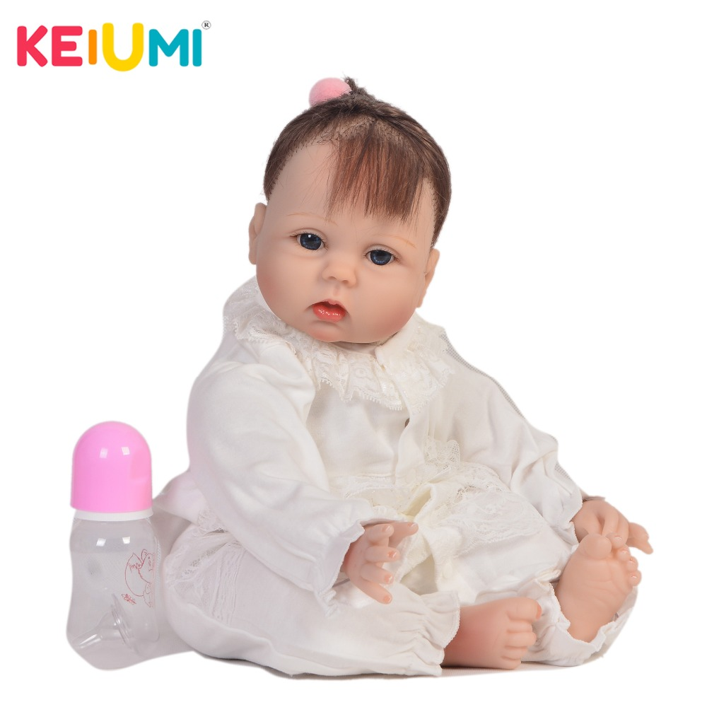 KEIUMI Newborn Baby Doll Cloth Body Realistic Lovely Baby Doll Toy For Childrens Day Kid Christmas Gifts Handmade Fiber HairKEIUMI Newborn Baby Doll Cloth Body Realistic Lovely Baby Doll Toy For Childrens Day Kid Christmas Gifts Handmade Fiber Hair