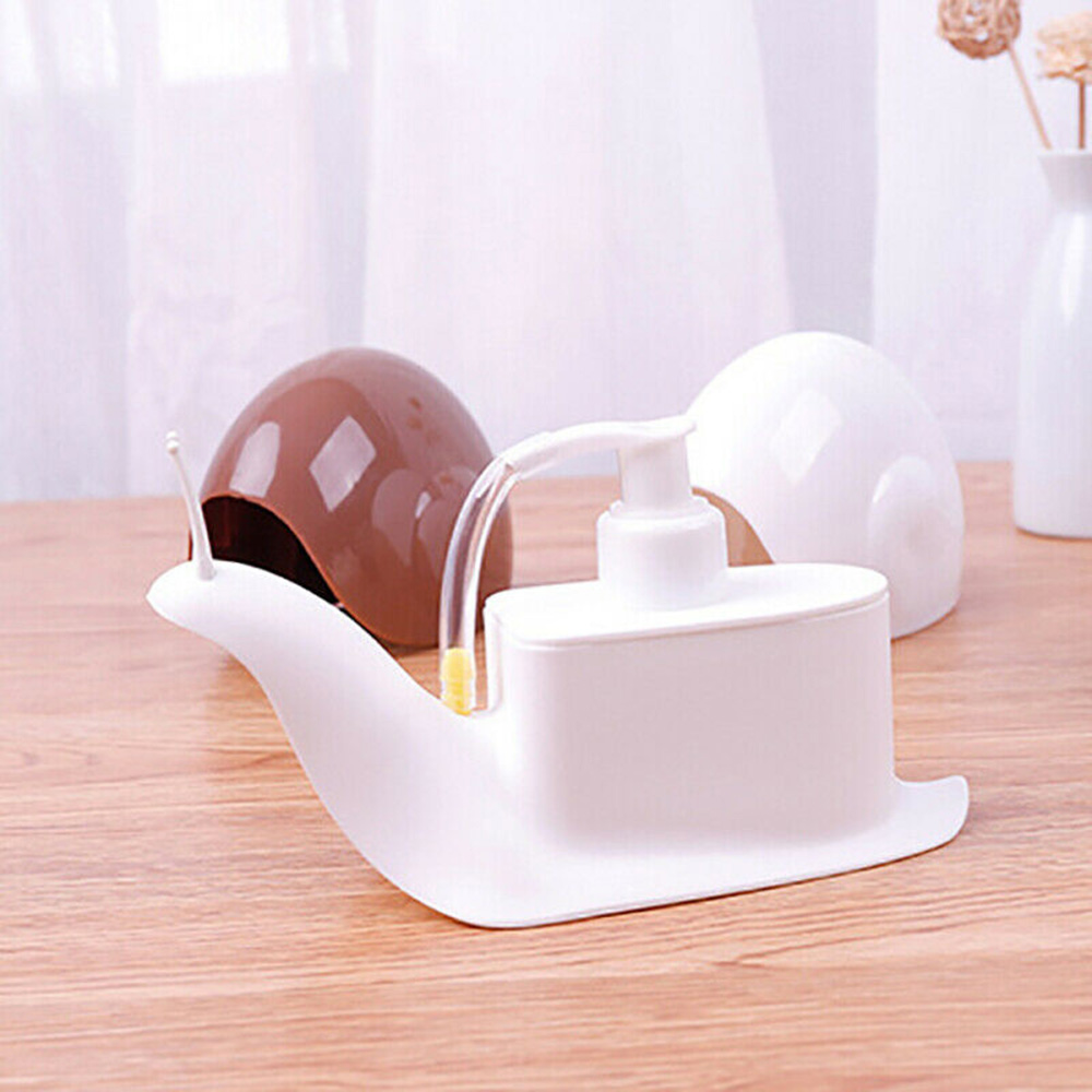 2019 New Liquid Soap Dispenser Cartoon Snail Shaped Shower Shampoo Dispenser Bottles Press Type Bottling Bathroom Accessories