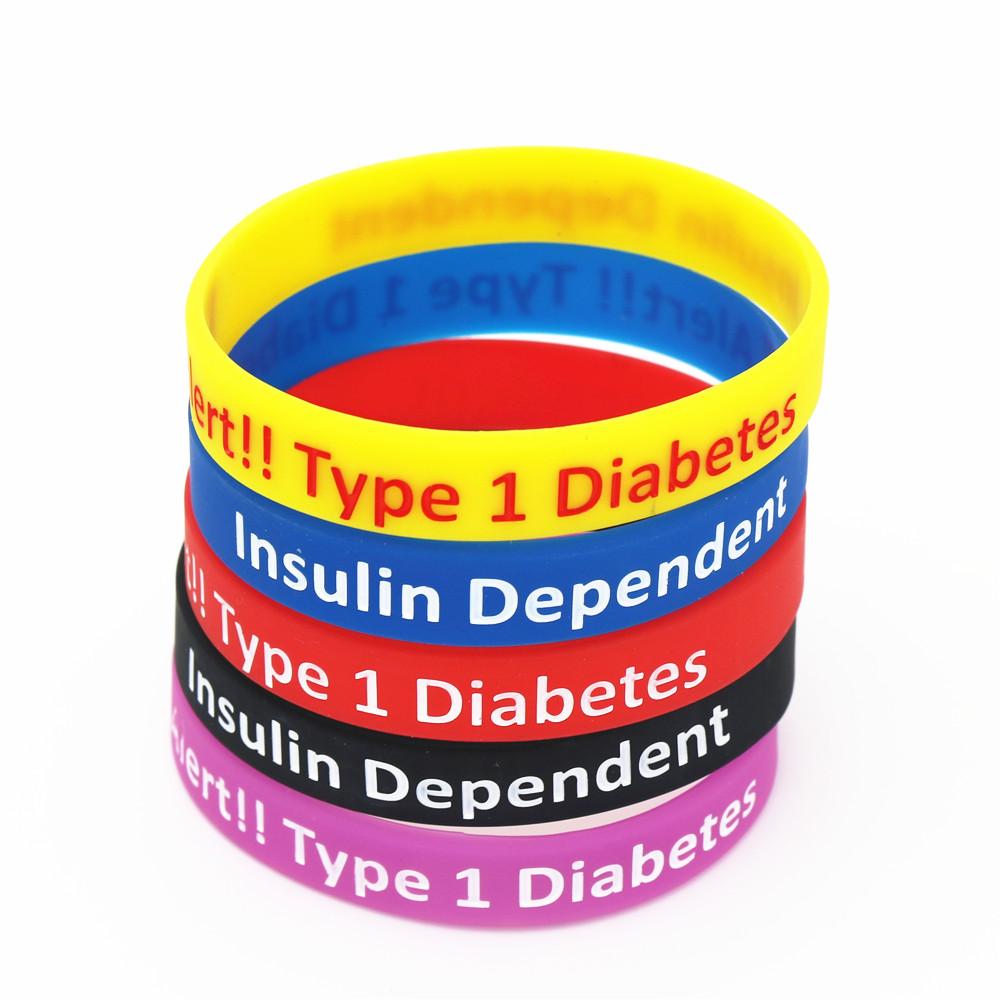 prueba de conciencia de pulseras de diabetes tipo 1
