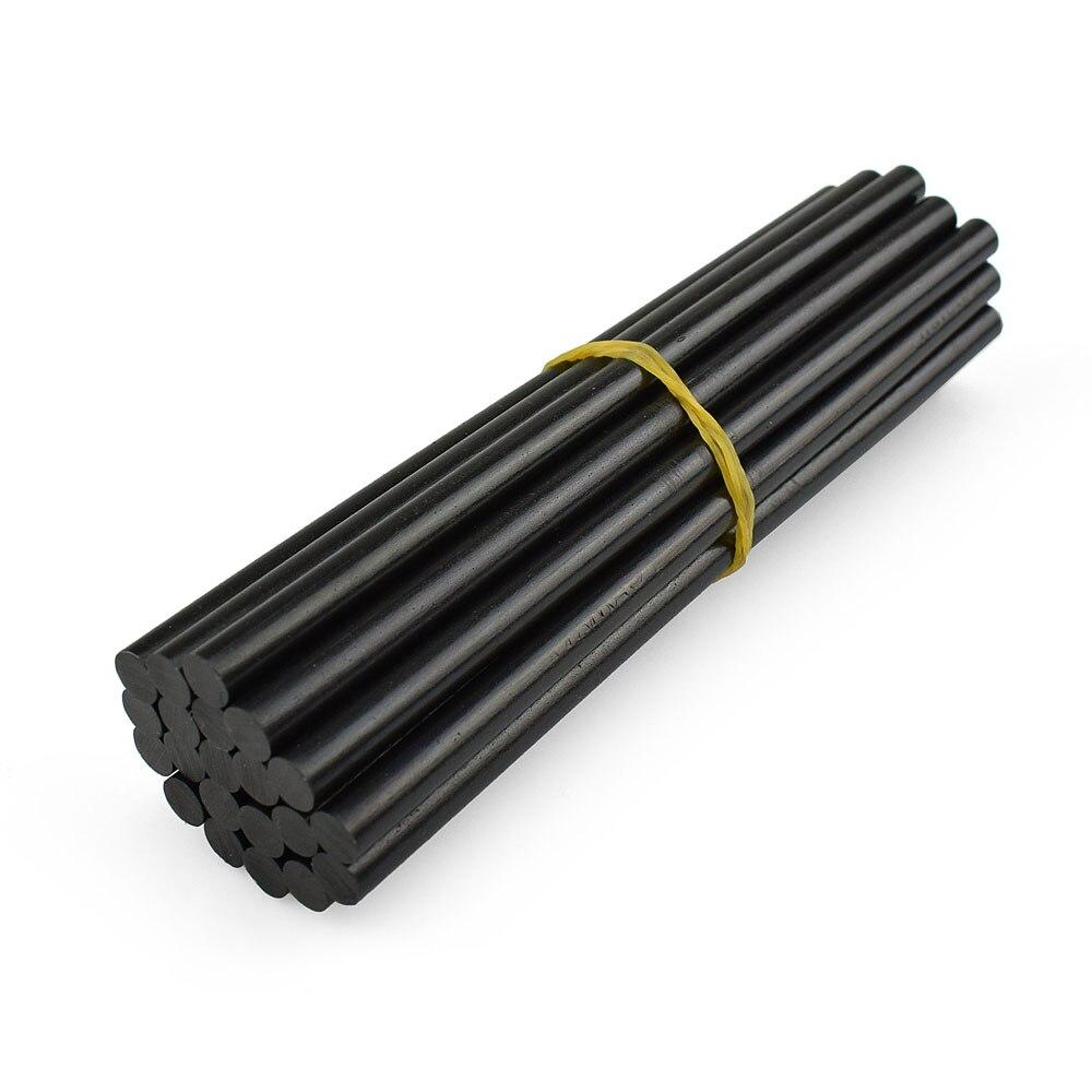 NEWACALOX 20 pcs/lot 7mm 150mm noir colle thermofusible bâtons pistolet adhésif bricolage outils alliage accessoires réparation