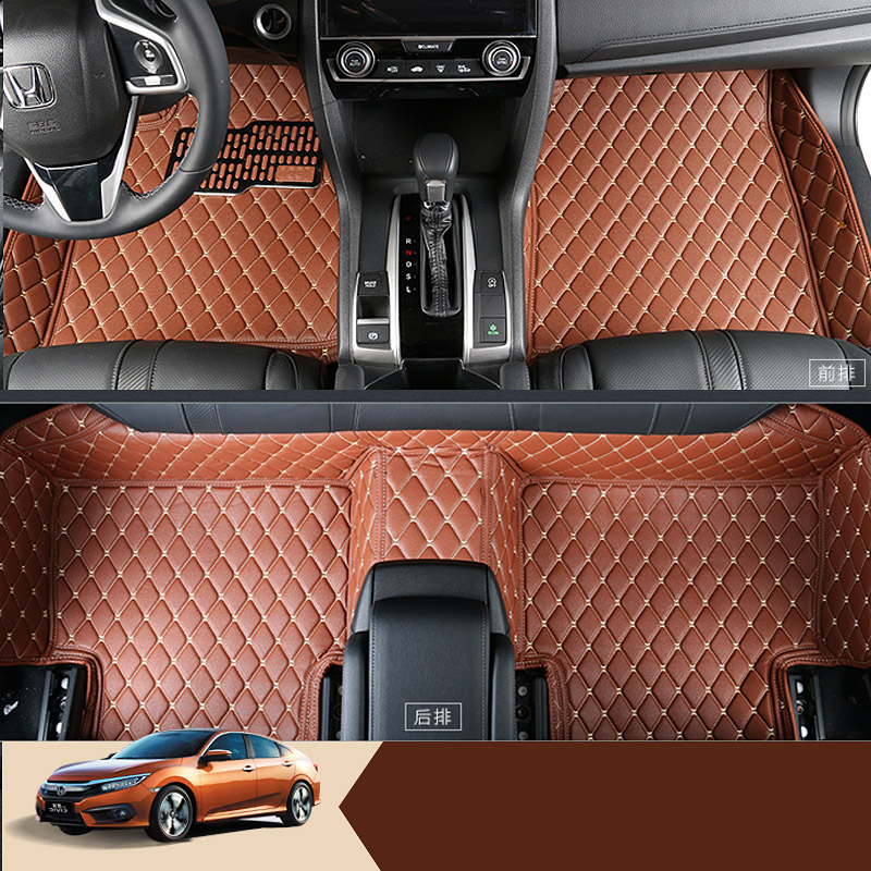 lsrtw2017 car-styling interior styling car floor mat for honda civic 2017 2018 2016 10th civic