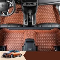 lsrtw2017 car styling interior styling car floor mat for honda civic 2017 2018 2016 10th civic