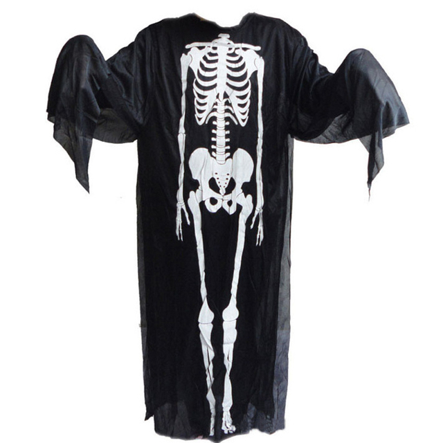 halloween costumes skull skeleton monster demon ghost scary costume clothes robe for adult men women children