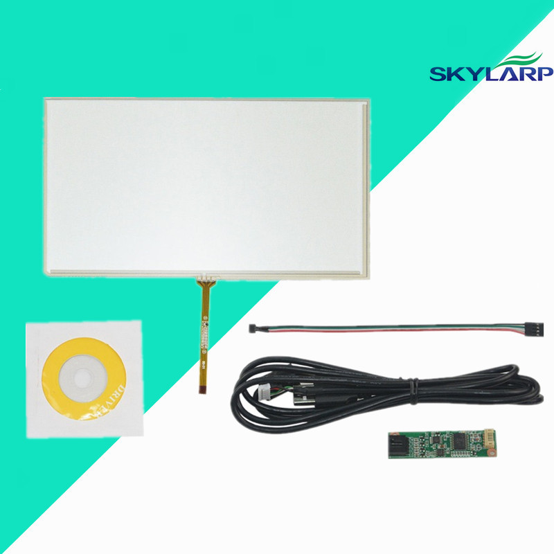 New 9inch 4 Wire Resistive Touch Screen Panel Digitizer USB for 9 TFT LCD 211x126mm Screen touch panel Glass Free shipping