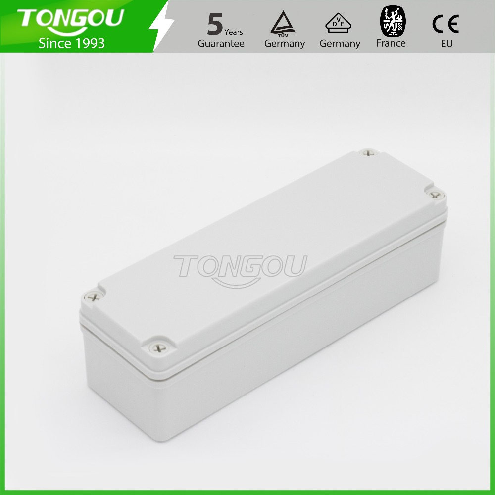 Free customized trepanning 3 holes High quality IP67 250*80*70 mm waterproof junction box plastic control panel box 4pcs a lot diy plastic enclosure for electronic handheld led junction box abs housing control box waterproof case 238 134 50mm