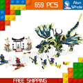 658 шт. Бела 2016 новый 10400 Ниндзя Атака Морро Дракон Набор Здания Блоки Набор Совместимо с Lego