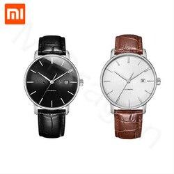 ساعة يد ميكانيكية مضيئة أصلية من شاومي تونتي سبعة عشر مع سطح الياقوت وحزام جلدي هدايا حركة أوتوماتيكية بالكامل