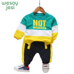 Kids Clothes Boys Casual Clothes 2 Piece Set Kids Streetwear Tracksuit Boy Sports Streetwear 2019 Spring Children Clothing