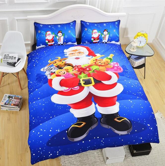 Christmas Series Quilt Home Textile Kit Bedding Three-piece Cool Pattern Couple Kit Christmas Series Quilt Home Textile Kit Bedding Three-piece Cool Pattern Couple Kit