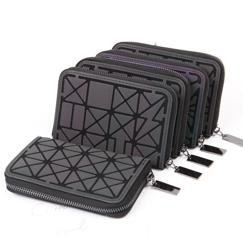 2018 Women Short clutch bao bao Luminous wallet Diamond lattice standard zipper wallets baobao designer Noctilucent purse