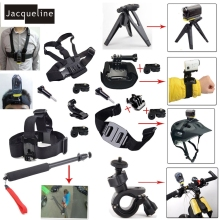 Jacqueline for Sports Head Chest Mount Selfie Monopod Handheld Accessories For Sony Action Cam HDR AS50V AS200V AS100V AS30V