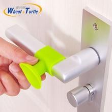 3pcs Self Adhesive Silicone Door Handle Knob Crash Pad Wall Protectors Anti Collision Bumper Guard Door Stopper Stops Stick цены онлайн