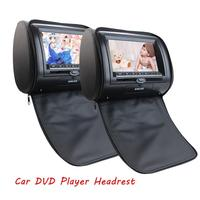 Black Pair Of Car Headrests Dual DVD Player For Car Double Digital Screen Two Pillow Video