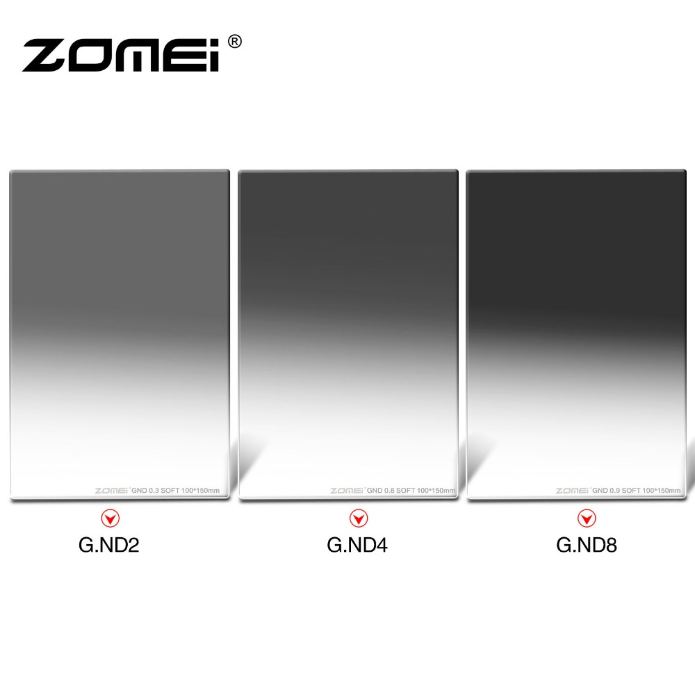 Zomei 150x100MM Glass Square Graduated ND248 Neutral Density Filter for Cokin Z Camera haida 100mm nd1000 optical glass neutral density nd filter 100 cokin z compatible