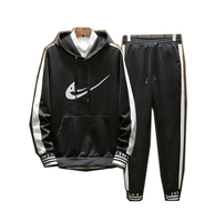Men Hoodie TrackSuit Sport Jacket Coat Sweats Suit Trousers Pant men outfit sweatsuits sweatpants black white red