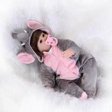 16inches 42CM silicone reborn doll Bonecas Baby Reborn realistic magnetic pacifier bebe doll reborn for girl Gift(China)