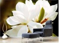 Custom 3D Murals The Beautiful Jade Orchid Simple Elegant Wallpaper Living Room TV Wall Bedroom Sofa